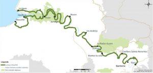 """Plan du projet de """"La Seine à vélo""""."""