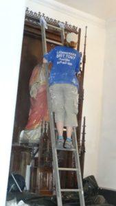 Lizza, Jeune bénévoles belges - Chantier église de Bourneville-Ste Croix - Juillet 2018