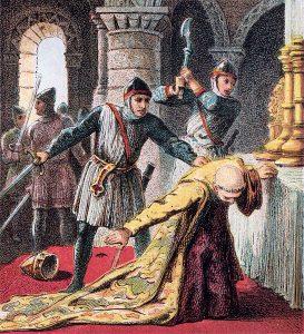Assassinat de Thomas Becket Archevêque de Cantorbéry