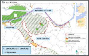 Carte espaces protégés - Site RAMSAR France - Marais Vernier Risle Maritime