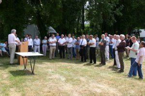 Inauguration du sentier des sources bleues (juillet 2010) - Quai de Seine d'Aizier