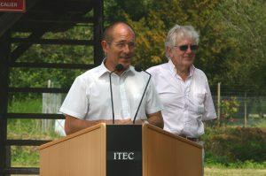 Alain Le Vern (président de la région Haute-Normandie) et Guy Chemin (Président de la CDC de Quillebeur-sur-Seine.